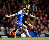 18 04 2012 Stamford Bridge, Chelsea, London Chelsea´s Juan Mata and Sergio Busquets of FC Barcelona during the Champions League Semi Final 1st leg mat...