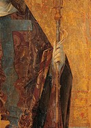 Polyptych of St Gregory, by Antonello di Antonio known as Antonello da Messina, 15th Century, 1473 about, oil on panel, cm central panel 12976 cm, sid...