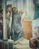 Stories of St Peter Martyr St Peter unveils the false Madonna, by Vincenzo Foppa, 1461 _ 1468, 15th Century, fresco. Italy, Lombardy, Milan, SantEusto...