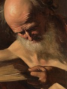 St Jerome, by Michelangelo Merisi known as Caravaggio, 1605 about, 17th Century, oil on canvas, cm 116 x 153. Italy, Lazio, Rome, Borghese Gallery. De...