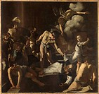 The Martyrdom of St. Matthew, by Michelangelo Merisi known as Caravaggio, 1599 _ 1600, 16th Century, oil on canvas, cm 323 x 343. Italy, Lazio, Rome, ...