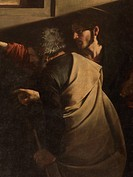 The Calling of St Matthew, by Michelangelo Merisi known as Caravaggio, 1599 _ 1600, 16th Century, oil on canvas, cm 322 x 340 . Italy, Lazio, Rome, Sa...