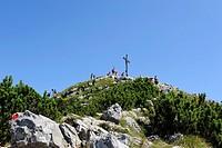 Summit of Brecherspitze Mountain, Schlierseer Mountains, Mangfallgebirge Mountains, Upper Bavaria, Bavaria, Germany, Europe, PublicGround
