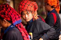 Pa-O women in Thaung Tho Kyaung market  Myanmar