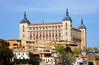 View of the Alcazar in Toledo Spain
