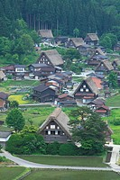 Gassho_zukuri Minka homes in Shirakawa_go