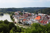 Wasserburg am Inn, River Inn, Upper Bavaria, Bavaria, Germany, Europe, PublicGround