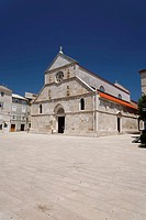 Parish Church of the Assumption in Pag, Pag island, Zadar, Croatia, Dalmatia, Europe