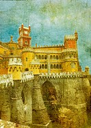 vintage image of pena palace
