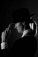 Black and white busineeswoman