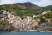 Fishing village of Riomaggiore, Cinque Terre, La Spezia province, Cinque Terre National Park, a UNESCO World Heritage site, Levante, Liguria region, I...