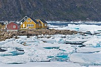 Drift ice, Kulusuk, East Greenland, Greenland
