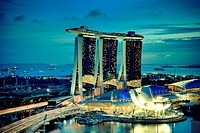 Singapore, Marina Bay Sands Hotel and Skypark