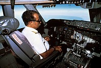 Saudi Arabia Pilot In Aeroplane Cockpit