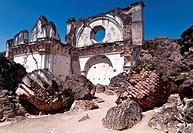 Ruins of La Recoleccion Church in Antigua, Guatemala.