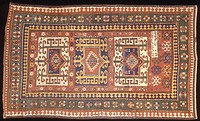 Rugs and Carpets: Soviet Union - Caucasus region - 19th century. Carpet detail