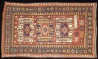 Rugs and Carpets: Soviet Union - Caucasus region - 19th century. Carpet detail