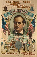 The issue _ 1900. Liberty. Justice. Humanity. W.J. Bryan 1900