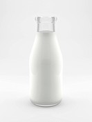 A render of an open classic milk bottle