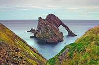 Cliff landscape at Bow Fiddle Rock