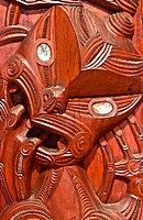 Maori Carving in New Zealand.