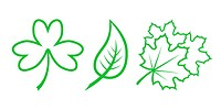 Green Nature Icons. Part 4 _ Leaves