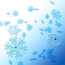 Winter background with snowflakes for your projects
