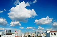 cloudy sky over Bangkok city, Thailand