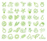 Icon set of nature, animal, environment
