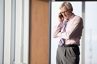 senior businessman on phone call