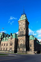 Beautiful architecture alonside of Parliament Hill in the capitol of Canada, Ottawa