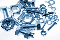 Closeup of nuts and bolts