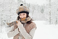 Stylish young woman enjoying the outdoors (thumbnail)