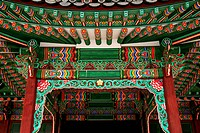 temple painting detail seoul south korea asia