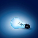 light bulb on blue background on the ground side.