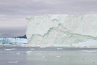 Iceberg in the famous icefjord beside the city of Ilulissat in Greenland. The icefjord is on UNESCO´s World Heritage List.