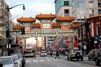 Symbol of the entrance to Chinatown, Washington DC, USA