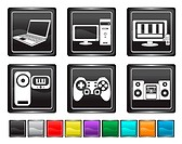 electronic equipment,each color icon is set on a different layer