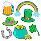 St Patricks day collection _ isolated illustration.