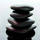 Spa stones stacked in perfect balance