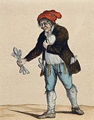 The president of a Revolutionary Committee after the seals are removed, caricature, 1794