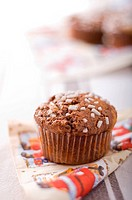 Duble chocolate muffin with sugar