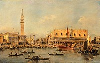 Ducale Palace in Venice, by Francesco Guardi (1712-1793).  Lisbon, Museu Fundação Calouste Gulbenkian (Art Museum)
