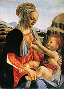 Madonna and Child, circa 1470, by Andrea del Verrocchio 1437_1488, Oil on wood, 75.5x54.8 cm