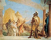 Briseis led to Agamemnon, by Giambattista Tiepolo (1696-1770), fresco. The Iliad Room, Villa Valmarana 'Ai Nani', Vicenza.
