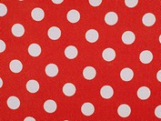 Red acetate fabric