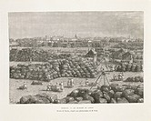 India, 19th century. Bombay (Mumbai), the cotton market. Engraving from Nouvelle Geographie Universelle by Elisee Reclus, volume 8, page 661