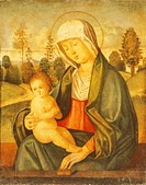 Madonna and Child, by Giovanni Battista Cima da Conegliano (1459-1517). Cathedral of Chioggia.