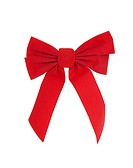 Large red Christmas bow, isolated w/clipping path