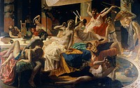 The orgies of Messalina, 1867_1868, by Federico Faruffini 1831_1869.